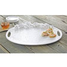 ceramic serving platter shell encrusted ceramic serving platter mud pie