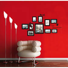 amazon com the memories quotes wall decor with 10 photo frames amazon com the memories quotes wall decor with 10 photo frames wall sticker diy removable vinyl family lettering sayings wall decor baby