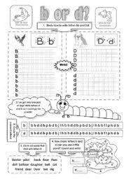 B And D Worksheets B Or D An Alphabet Worksheet To Practise The Difference Between