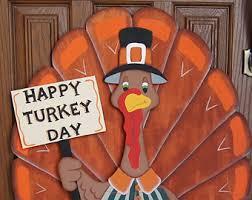 happy turkey day wooden thanksgiving yard sign