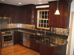 kitchen backsplash stainless steel subway tile copper kitchen