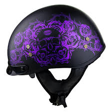 womens motocross helmets 888 bullet cruiser skull and rose women u0027s half helmet voss