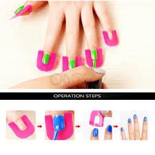 26pcs manicure finger nail art tips cover polish salon shield