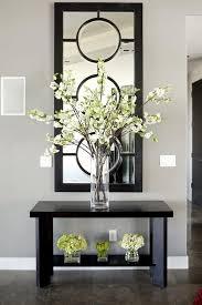 living room wooden table flower vase flower mirror decorative