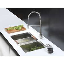 Commercial Style Kitchen Faucet by Ruvati Rvf1210st Commercial Style Pullout Spray Kitchen Faucet