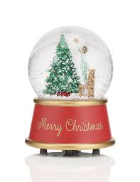 festive scene snow globe christmas decoration m u0026s