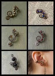 wire ear cuffs wire wrapped earcuffs by zombiearmadillo on deviantart