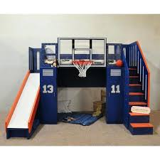Bunk Bed Slide Bunk Bed With Slide Out Bed Ultimate Basketball Bunk Bed Indoor