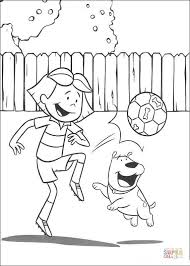 clifford coloring pages playing with emily coloring page free printable coloring pages
