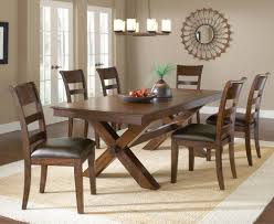 dining room trestle table hillsdale park avenue trestle dining table w leaf in dark cherry