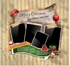 christmas greetings cards vector template 01 vector card vector