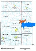 mercer map mercer county ohio genealogy guide