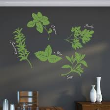 wall decals for dining room herbs wall art decal