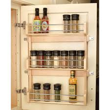 Wall Mount Spice Cabinet With Doors Rev A Shelf 21 5 In H X 16 5 In W X 3 12 In D Large Cabinet