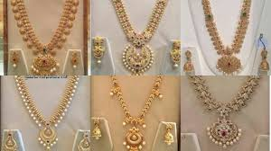 long necklace designs images Latest long haram designs 2017 jpg