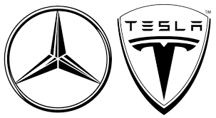 mercedes logos daimler ag acquires stake of nearly 10 percent of tesla motors