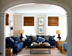 navy blue and cream living room interior design ideas modern to