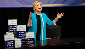 hillary clinton u0027s u201cwhat happened u201d notes from a manhattan book