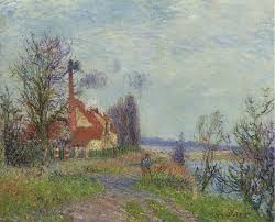 paper mill at port marly 1920 gustave loiseau wikiart org