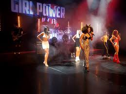 stage backdrop for power spice girls tribute act by banner