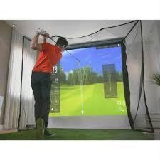 Retractable Projector Ceiling Mount by Homecourse Pro Retractable Golf Simulator Screen
