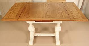 Draw Leaf Dining Table Shabby Chic Painted Oak Draw Leaf Dining Table 304979
