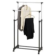 new double clothes rail portable hanging garment w shoe rack