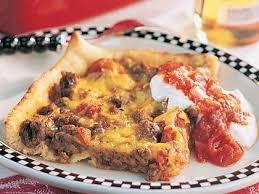 round table taco pizza deep dish taco pizza recipe myrecipes