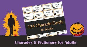 124 charades for adults printable charades