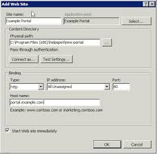 Help Desk Portal Examples Adding A Secondary Portal Within Microsoft Iis