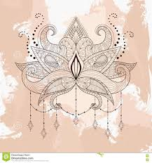 Indian Flower Design Lotus Icon Indian Flower Design Vector Graphic Stock