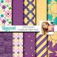 rapunzel disney tangled inspired 12x12 digital paper pack
