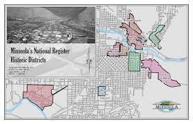 Montana State Map Missoula U0027s National Register Of Historic Places Missoula Mt