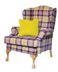 Tartan Armchairs Queen Ann Occasional Chairs Finline Furniture