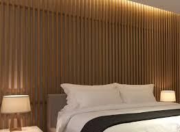 wood slat bedroom wall design idea create a wood slat accent wall