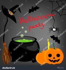 cartoon vector background halloween decorations stock vector