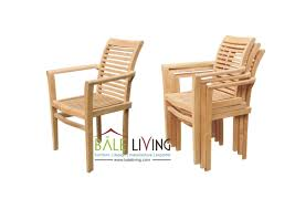 stacking chair curve indonesia teak garden and indoor furniture