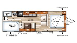 Bunkhouse Floor Plans by 2018 Forest River Salem Cruise Lite 261bhxl Model