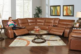 cognac leather reclining sofa kane s furniture sectionals