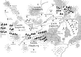 Lord Of The Rings Map The Shire Lord Of The Rings Bespoke Hand Drawn Map