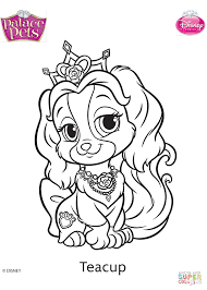 palace pets teacup coloring page free printable coloring pages