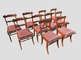 Antique Dining Chairs Set Ten Regency Mahogany Dining Chairs Sabre Leg Bar Back