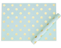 mint wrapping paper blush with gold glitter wrapping paper gift wrap polka dot