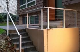 stainless steel deck railing bar u2014 railing stairs and kitchen