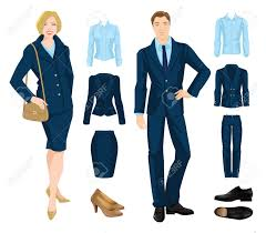 vector illustration of corporate dress code office