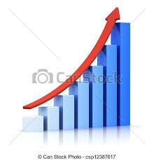 growing chart growing bar chart with arrow business success and financial