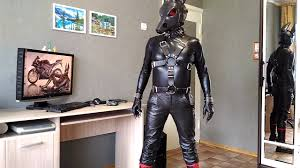leather man mask anubis black and red style youtube