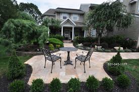 exterior enchanting landscape design with outdoor furniture and