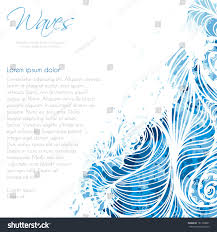 Invitation Card Background Invitation Card Background Template Water Waves Stock Vector