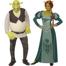 Couples Costume Shrek U0026 Fiona Couples Costume Fancy Dress Occasion Costume Ireland